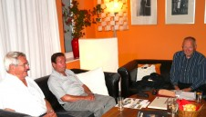 Gerhard Poser, Wolfgang Schmidt und Jörg Roesler im GD-Salon