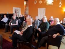 Das Publikum - ebenso diskussionsfreudig wie unser Podiumsgast.