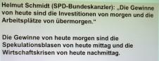 Hier sind zwei Aussagen zu sehen, worüber das Plenum und Herr Ringger ausgiebig diskutierten.